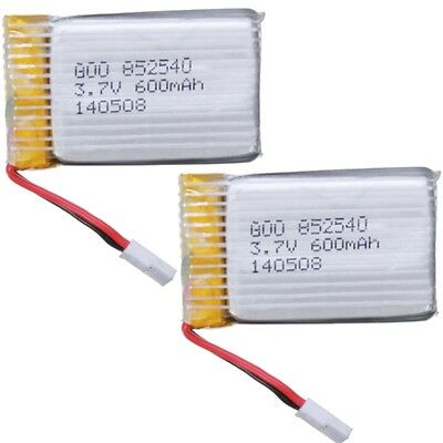2x New 3.7V 600mAh 25C Lipo Battery for Syma X5C X5C-1 RC Quadcopter Helicopter