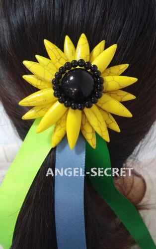 FHP6 ANNA sunflower hairpin for frozen fever