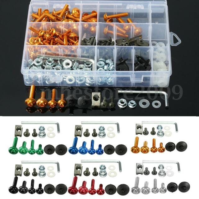 233X Motorcycle Aluminum Fairing Bolt Kit Fasteners Clip Screws Set for Kawasaki