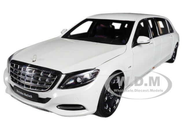 MERCEDES MAYBACH S 600 PULLMAN WHITE 1 18 MODEL CAR BY AUTOART 76296