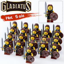 21PCS/Lot Highland Warriors Gladiatus Minifigures Medieval Knights Rome soldiers
