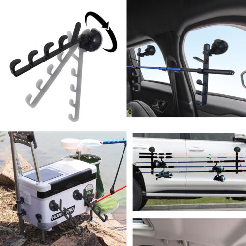 Car//Truck//SUV Strong Suction Cup Fishing Rod Holders One Pair EASY INSTALL