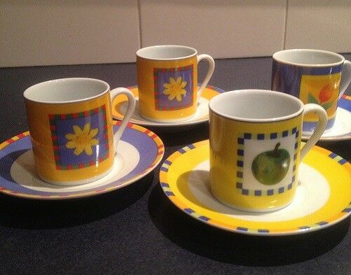 Maxwell & Williams Espresso Cup & Saucer - Set of 4