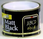 151 Coatings Matt Black Paint 180ml Tough & Durable Blackboards