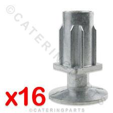 16x 30mm QUADRATA TAVOLO GAMBE/PIEDINO REGOLABILE INSERTI PER CATERING