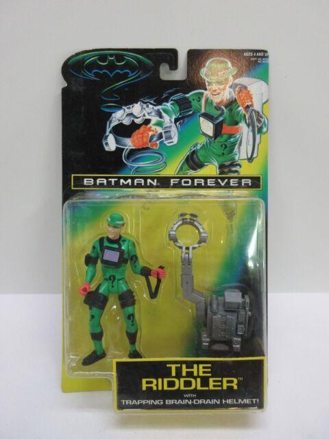 Kenner 1995 Batman Forever THE RIDDLER Brain Drain Helmet Action Figure NIP