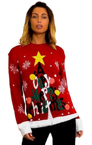 Christmas Jumper Pom Pom Snowflake Merry Christmas Ho Ho Knitted Sweaters Unisex