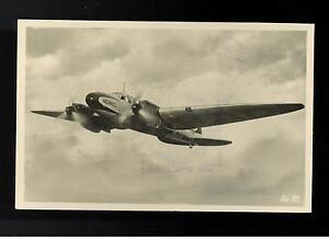 1940 Germany He 111 RPPC Luftwaffe Bomber Feldpost Postcard Cover
