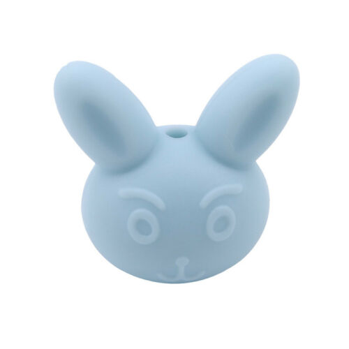 Rabbit Silicone Beads Teething Teether DIY Necklace Making Chew Safe Baby Toy LH
