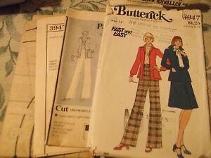 Butterick-vintage-Instant-fashion-pattern-3947-uncut-complete-skirt-jacket-pants