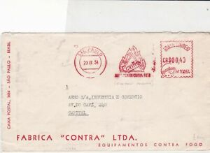 brasil-1954-fire-products-stamps-cover-ref-20554