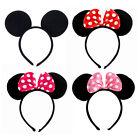 Minnie Mouse Ears Bow Cosplay Headband Night Women Girl Mickey Party Fancy Dress