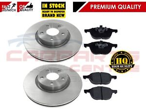 FOR-FORD-FOCUS-MK2-C-MAX-2003-FRONT-BRAKE-DISC-DISCS-PAD-PADS-SET-300mm