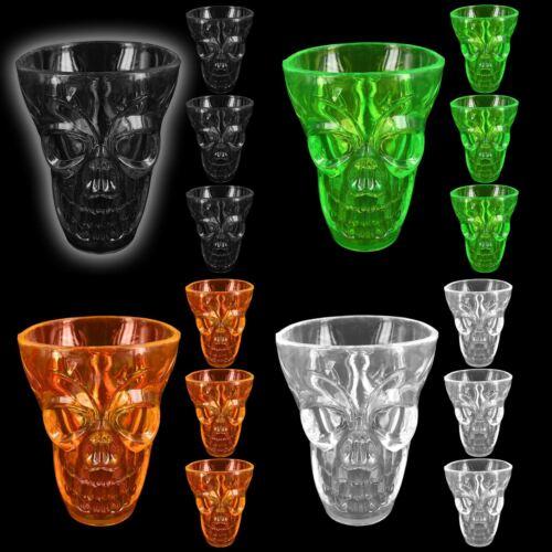 Halloween 3D Skull Shaped Shot Glasses Scary Spooky Creepy Horror Gothic Party