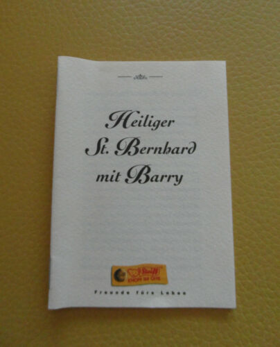 Steiff heiliger St Bernhard mit Hund Barry  993701 Steiff