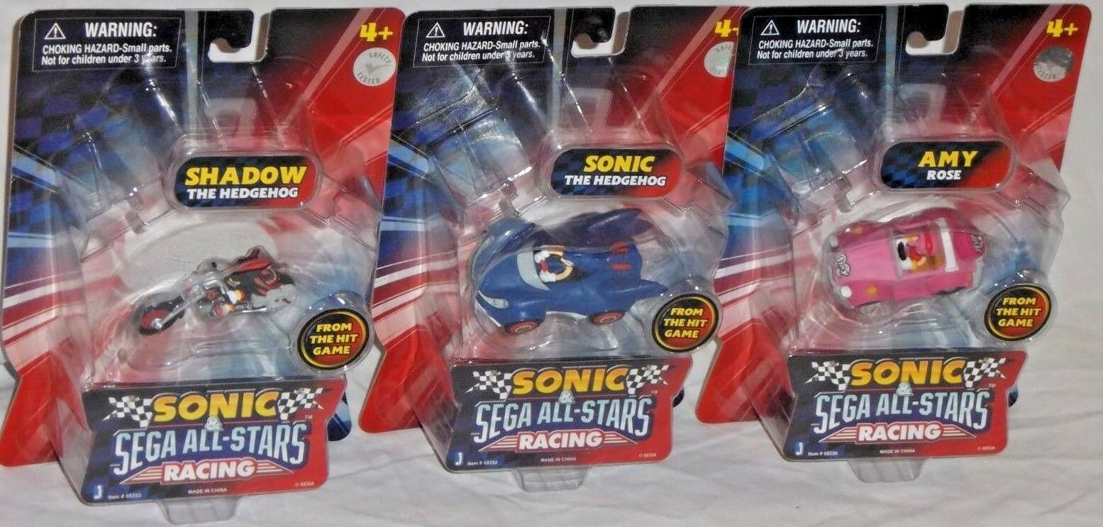 ordene ahora los precios más bajos Sega All Estrellas Racing Jazwares Sonic Hedgehog Hedgehog Hedgehog sombra Amy vehículo Coches Figura Set  precios mas bajos