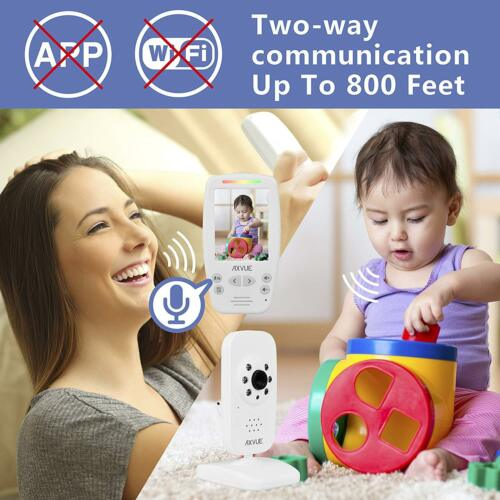 """2.8/"""" LCD Screen and 2 Camera NEW UNIT Axvue E662 Video Baby Monitor"""