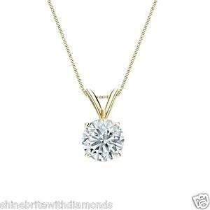 2-Ct-Round-Cut-Real-Solid-18k-Yellow-Gold-Solitaire-Basket-Pendant-18-034-Necklace