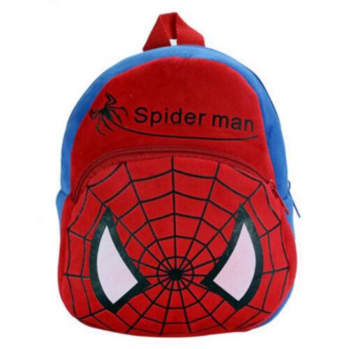 Infant Kids Boy Girl Cartoon Spiderman Backpack Schoolbag Shoulder Bag Rucksack