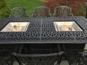 Fire-pit-dining-table-Cast-Aluminum-Propane-Double-Burner-9-Piece-Outdoor-Set