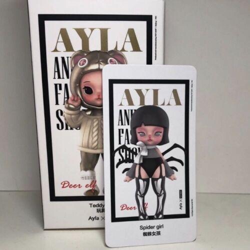 AYLA x POP MART Animal Fashion Show Spider Girl Mini Figure Designer Art Toy New