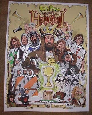 The Monty Python and the Holy Grail movie poster print