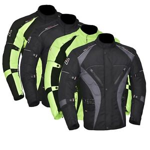 Men-039-s-Motorcycle-Motorbike-Jacket-Waterproof-Textile-CE-Armoured-4-Colours