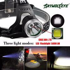 5000 Lm CREE XM-L XML T6 LED 18650 Headlamp Headlight Super Bright Waterproof