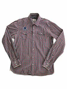 Scotch-amp-Soda-Men-s-Long-Sleeve-Button-Up-Collared-Shirt-Size-L-Plaid-Pattern