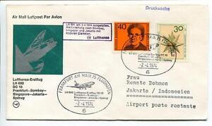 Ffc 1974 Lufthansa Primo Volo Lh 690 Dc-10 - Francoforte Bombay Jakarta Sydney Soyez Astucieux Dans Les Questions D'Argent