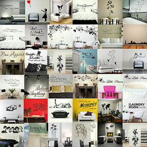 WALL-STICKERS-Removable-Decal-Transfer-Interior-Home-Art-Vinyl-Decor-Quote-UK