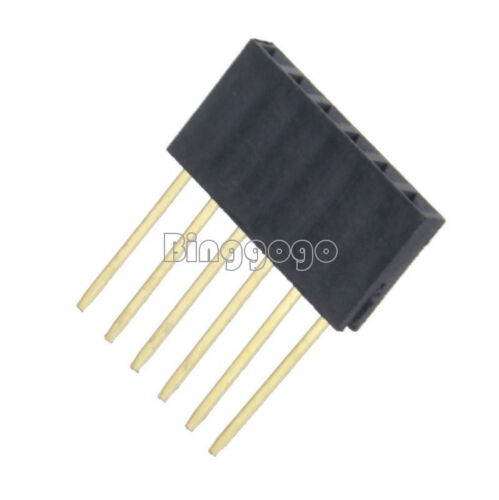2.54mm pitch Stackable Header Pins 6//8//10 Pins for Arduino Shield UNO MEGA