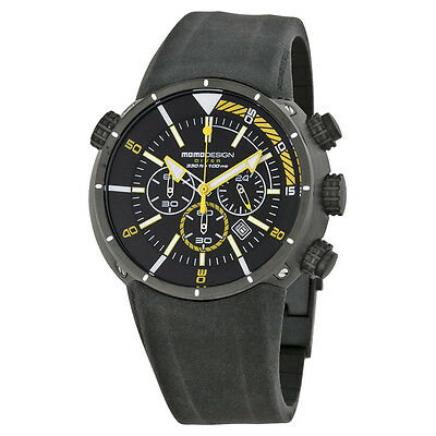 Momo Design Mens Pro Diver Chronograph Black IP plated Quartz Watch MD1005BK51