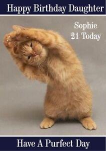 Personalizzato-Compleanno-Carta-Yoga-Cat-qualsiasi-nome-eta-relazione