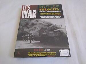 Muzzle-Velocity-It-039-s-War-Vintage-PC-WWII-Combat-Game-Rare-New-Sealed-Big-Box