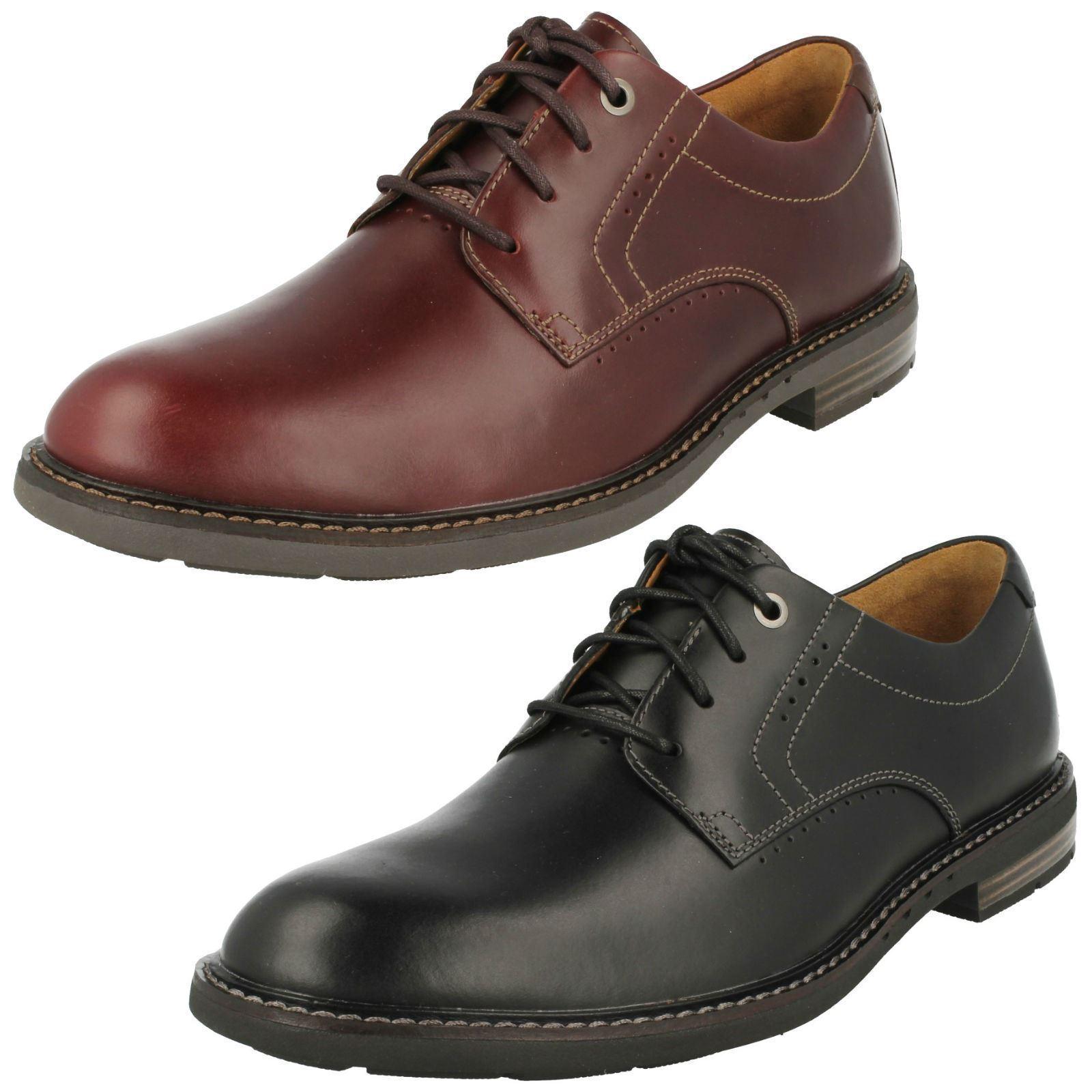 Hombre Clarks Sin Estructura unelott Liso Con Elegante Zapatos De Piel Con Liso Cordones 1ed1cf