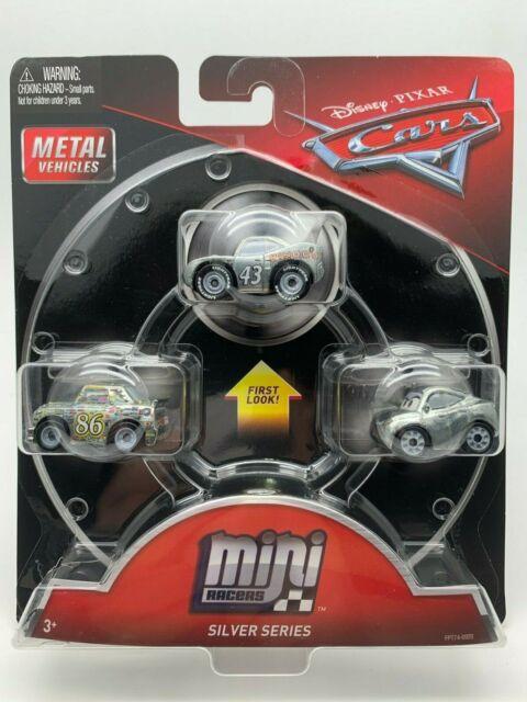 Chick Natalie Disney Pixar Cars 3 PACK Mini Die Cast Racers Silver Series King