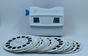 Vintage-1976-Bicentennial-GAF-Viewmaster-Plus-24-Picture-Reels-Lot-Mickey-Mouse