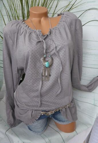 Sheego shirt mis 922 44//46-56//58 grigio stelle all/'elastico basso 160 GRIGIO