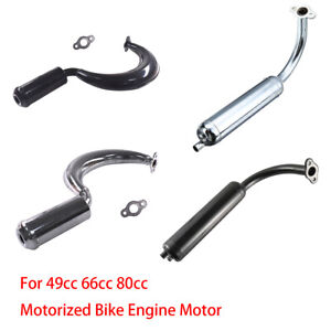 Muffler-Exhaust-Pipe-49cc-66cc-80cc-Motorized-Bike-Engine-Motor-Part