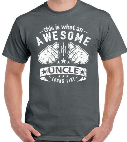 C'est quoi un oncle génial ressemble Mens Funny pères jour T-Shirt Xmas D2