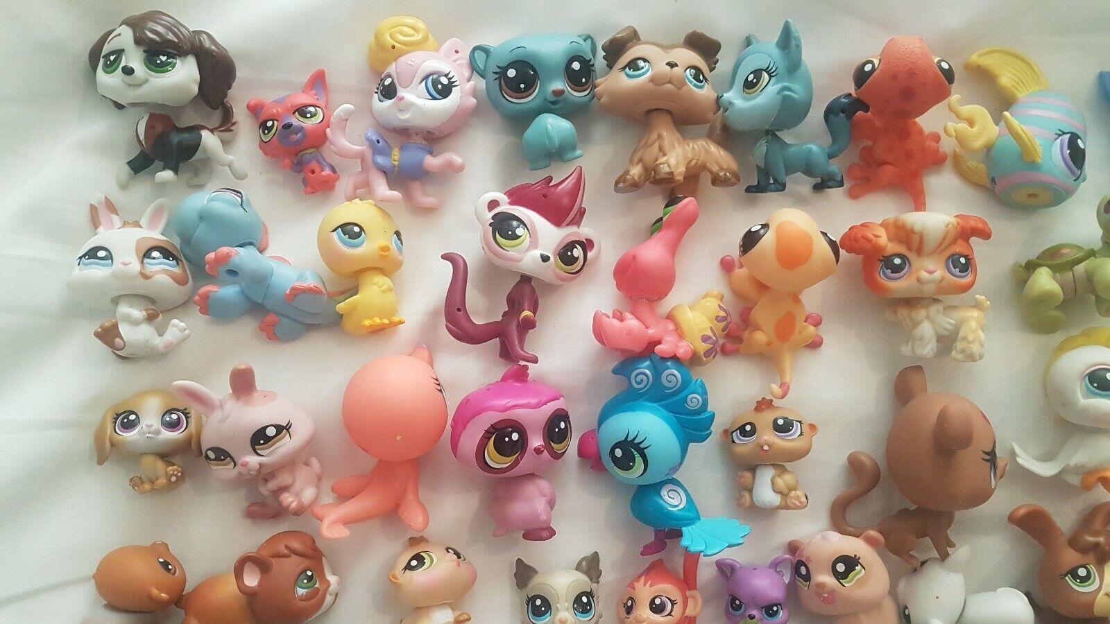 Littlest pet shop bundle 52 figures figures figures cute animals df3
