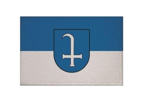 Ricamate Dudenhofen bandiera bandiera aufbügler Patch 9 x 6 cm