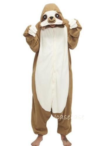 Sloth Kigurumi Anime Cosplay Pyjamas Costume Hoody Adult Onesie16 Fancy Dress UK