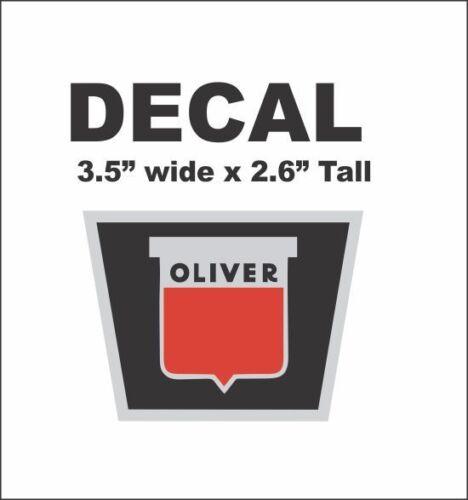 1 Oliver Tractor Radiator Vinyl Decal