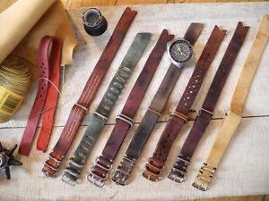 Handmade Supreme Vintage Nato Leather Strap 20mm 105.012 105.003 145.022 - Großhesselohe, Deutschland - Handmade Supreme Vintage Nato Leather Strap 20mm 105.012 105.003 145.022 - Großhesselohe, Deutschland