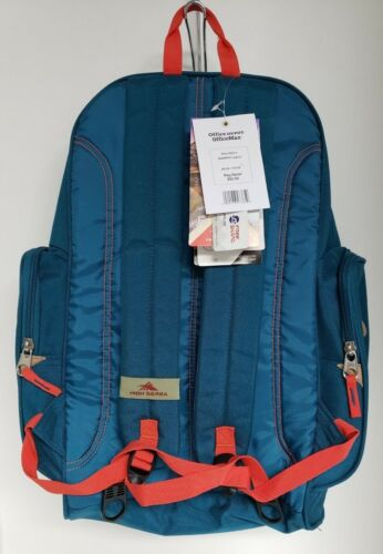 High Sierra Warren Fatboy Backpack Black Pink Dark Teal Star Point Shark NWT