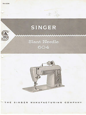 Singer Touch /& Sew 604E Instruction Owners Users Guide Operating Manual Book