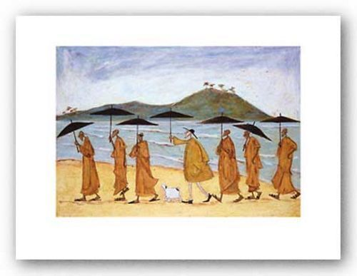 DOG ART PRINT The Seven Umbrellas of Enlightenment Sam Toft
