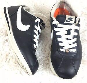 brand new 0457f 61b2c Image is loading Nike-Mens-Size-8-Cortez-Black-White-Swoosh-